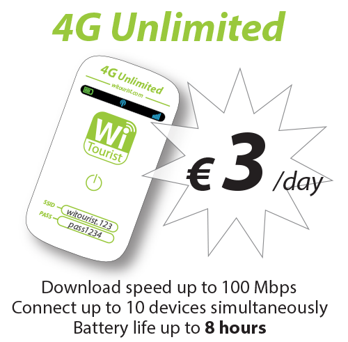 4G Unlimited - Truly Unlimited - 3€/day