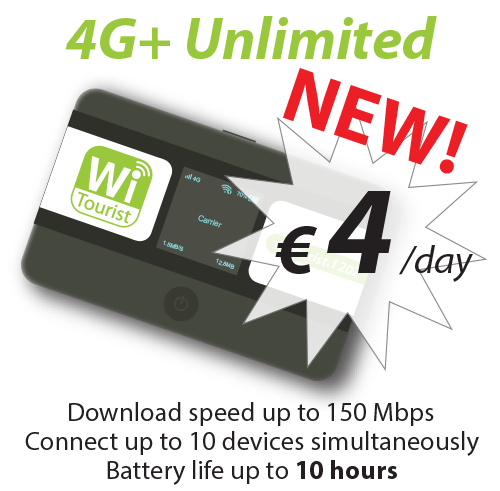 4G Plus Unlimited - Truly Unlimited - 4€/day