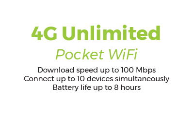 4G Unlimited - Truly Unlimited - 3,50€/day