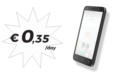 Smartphone WIND - 0,35€/day