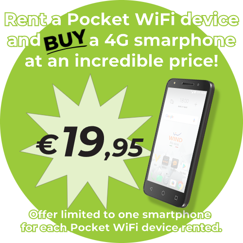 Rent a WiFi device and BUY A SMARTPHONE ONLY €19,95!